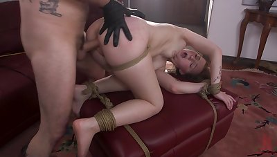 Jenna Clove gets anal fucked in merciless BDSM play