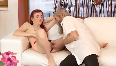 Teen old doctor Unexpected practice with an older