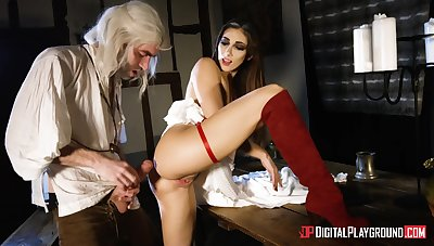 Desirable brunette Clea Gaultier in peppery boots fucked by a big Hawkshaw