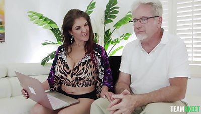 POV video of an older guy fucking full-grown housewife Coralyn Jewel